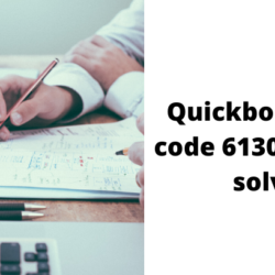 Quickbooks error code 6130 ,0 how to solve It