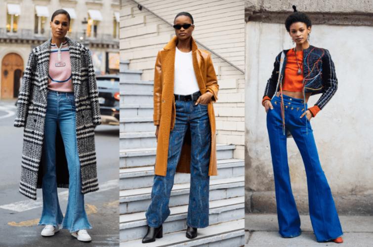 Styling flared women pants