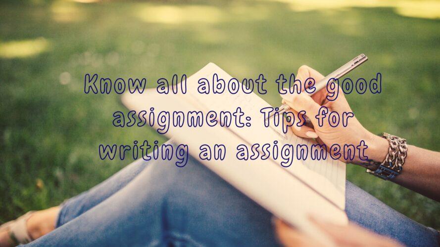 writing an assignment